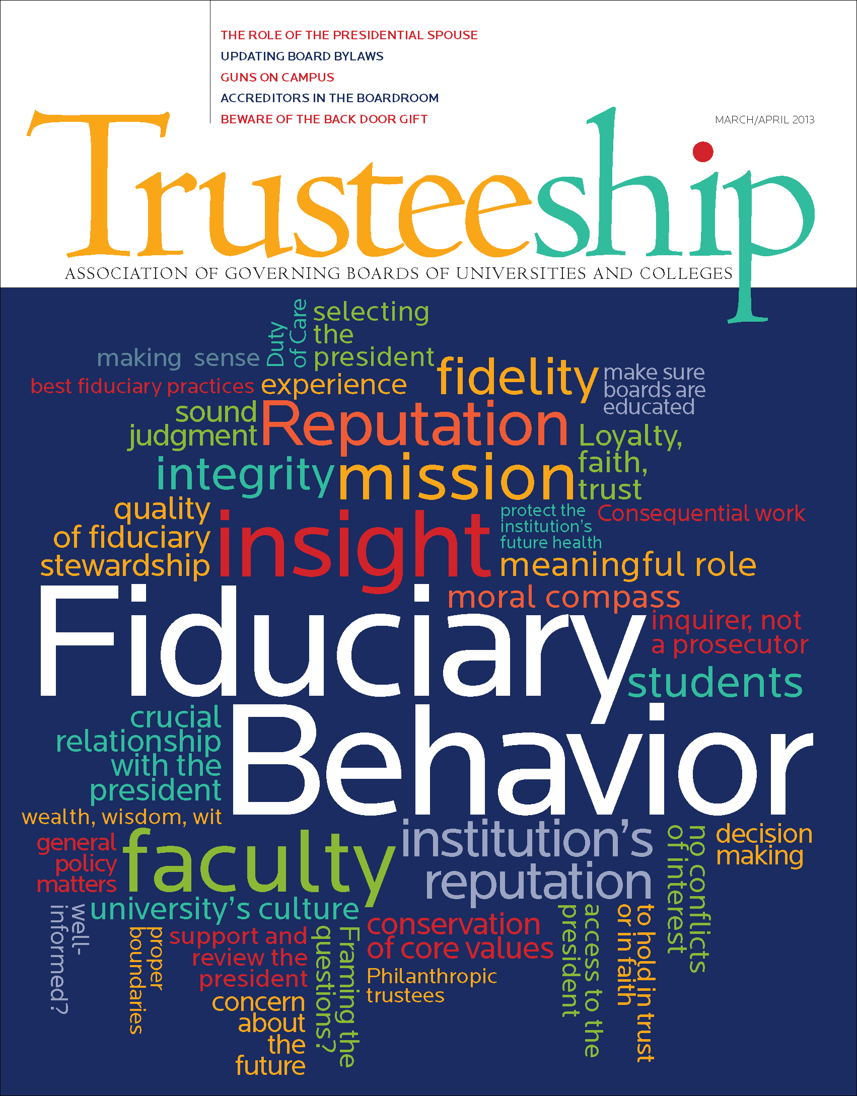 Trusteeship Issue: Fiduciary Behavior: What's the Responsible Trustee to Do (and Not Do)? -March/April 2013