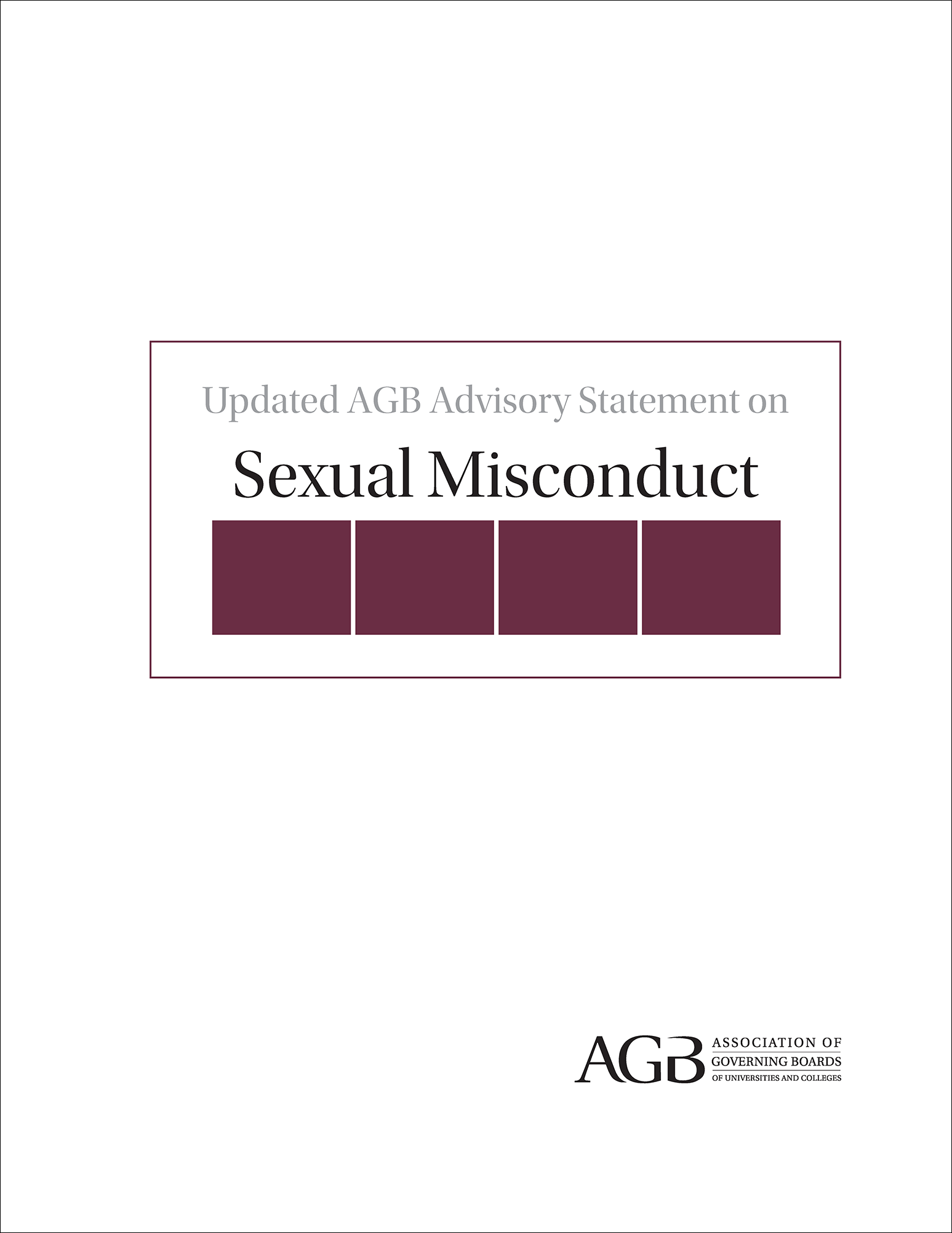 Updated AGB Advisory Statement on Sexual Misconduct