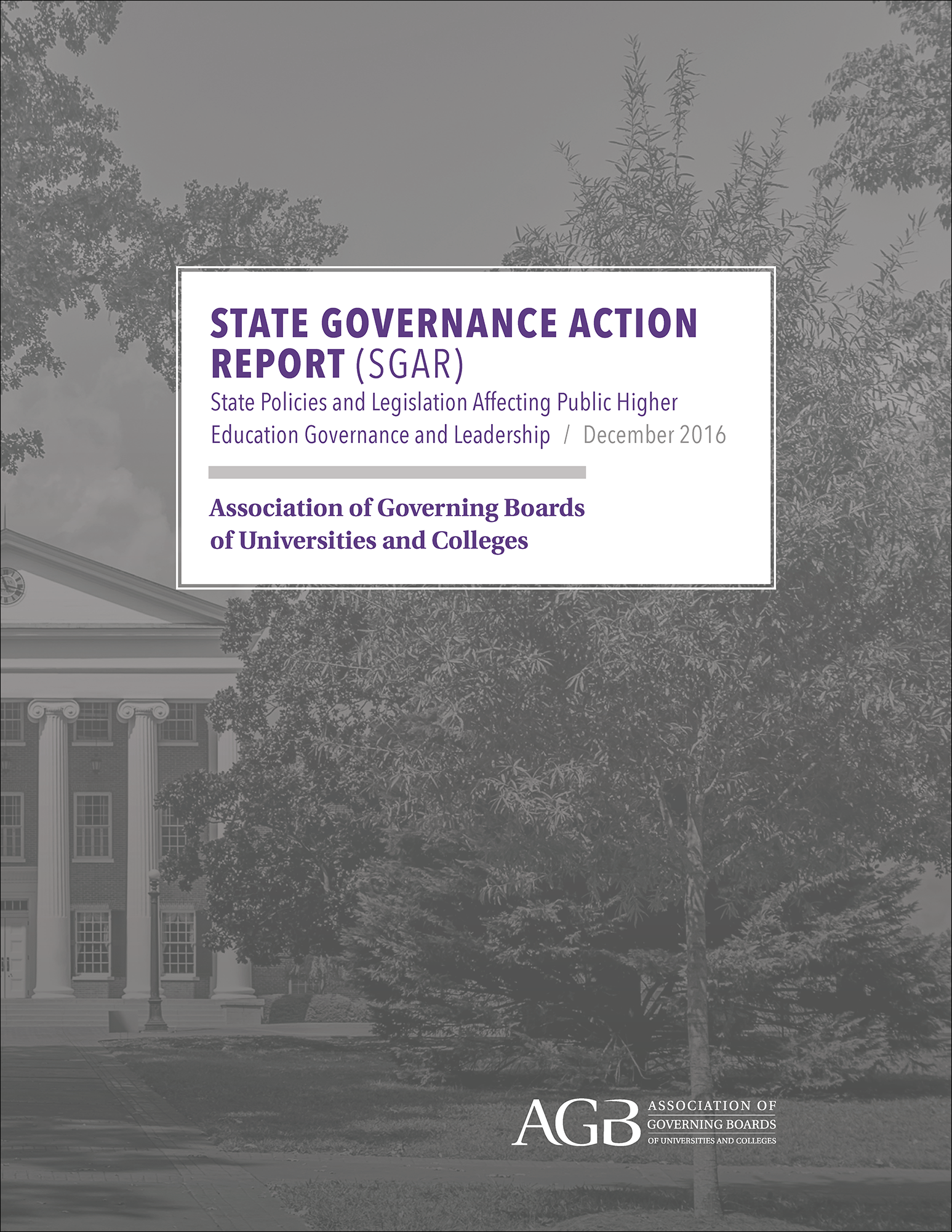 2016 State Governance Action Report