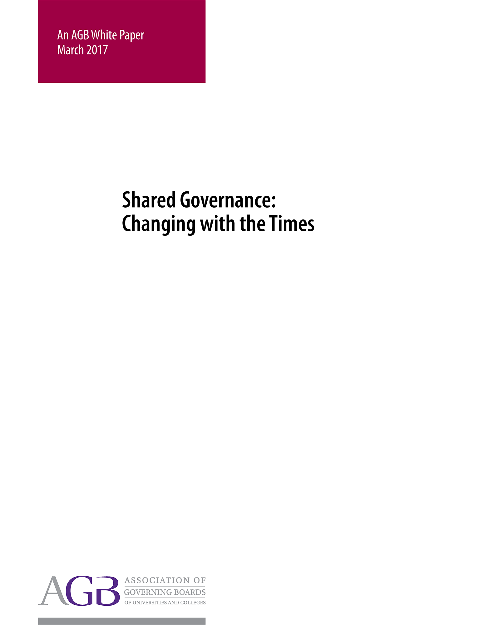 Shared Governance: Changing with the Times