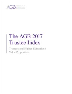 The AGB 2017 Trustee Index