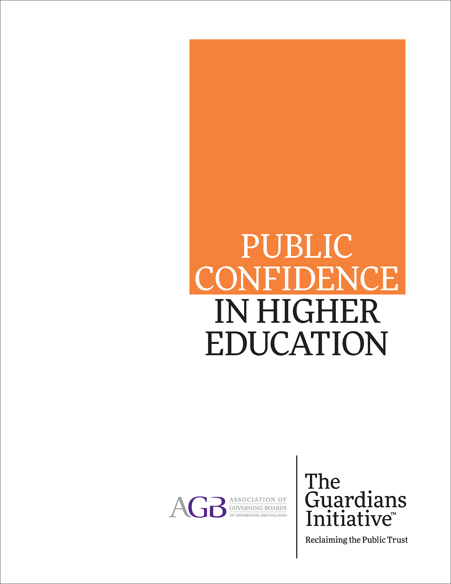 Public Confidence in Higher Education