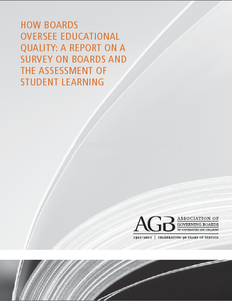 How Boards Oversee Educational Quality