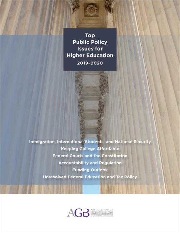 Top Public Policy Issues for Higher Education: 2019-2020