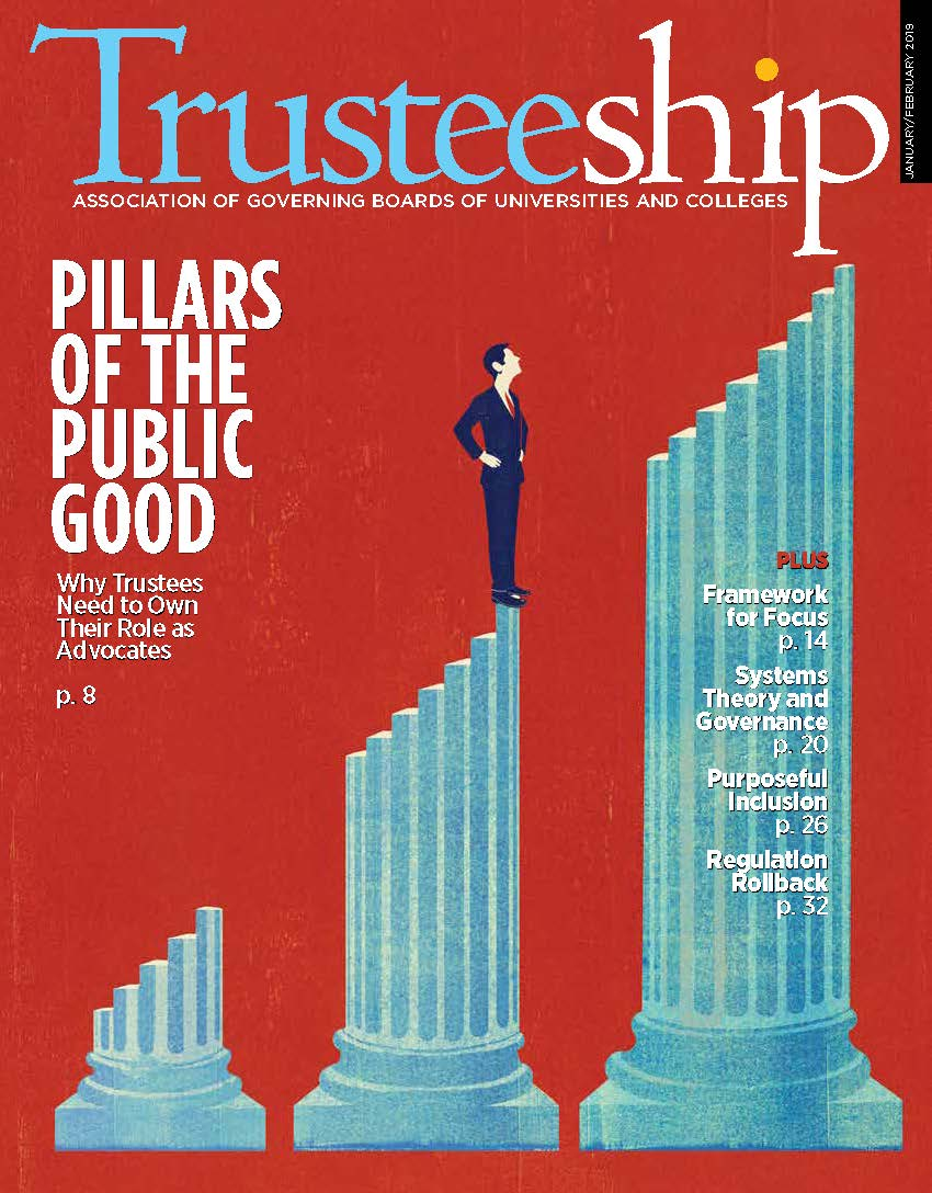Trusteeship Cover: January/February 2019 - Pillars of the Public Good