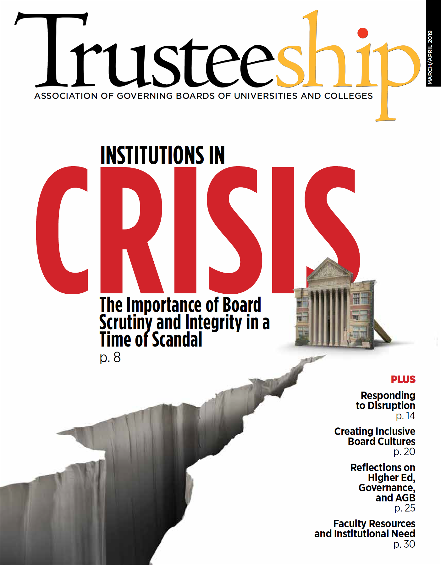 Trusteeship Issue: Institutions in Crisis - March/April 2019