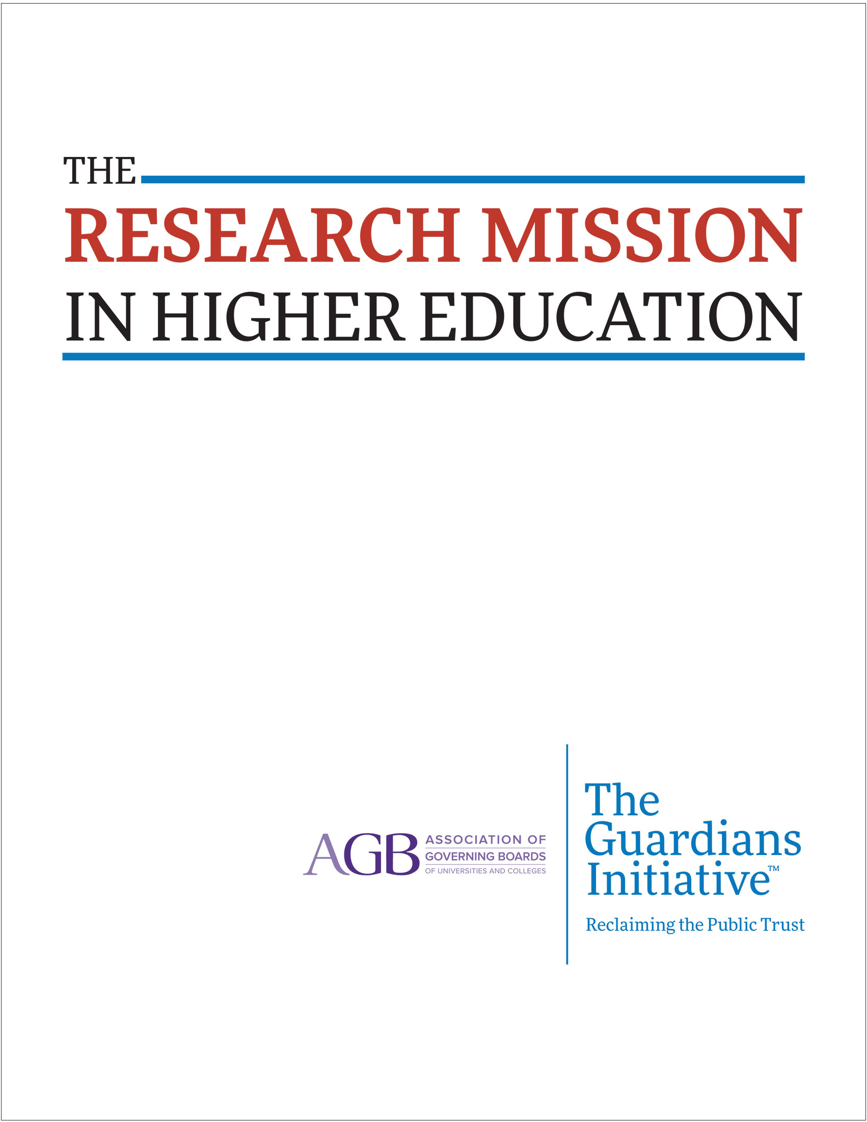 The Research Mission in Higher Education