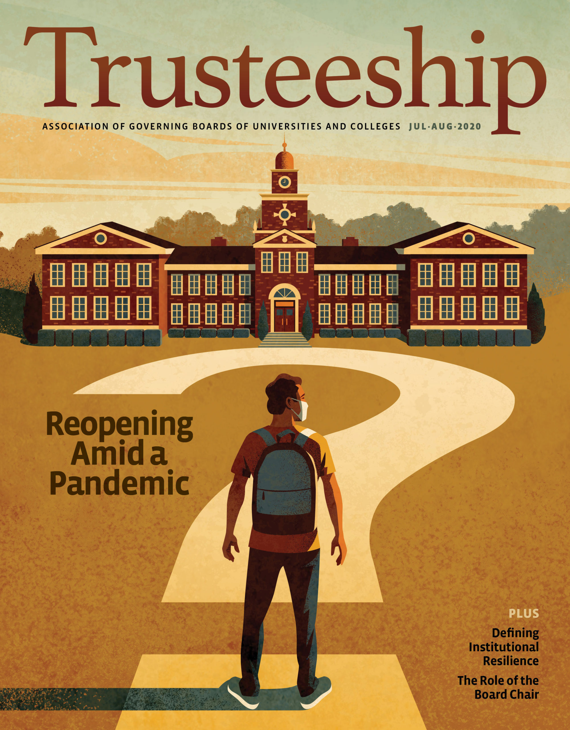 Trusteeship Magazine: July/August 2020 Cover - Opening Amid a Pandemic