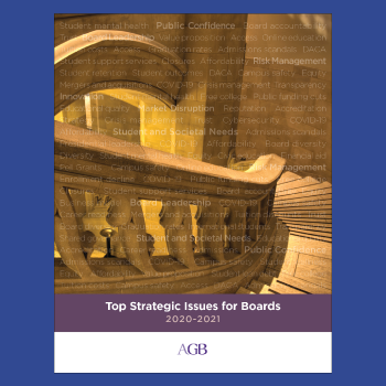 Top strategic issues for boards report cover