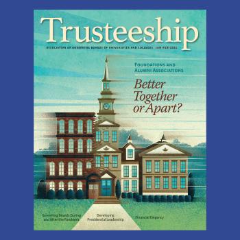 Trusteeship magazine cover January February 2021