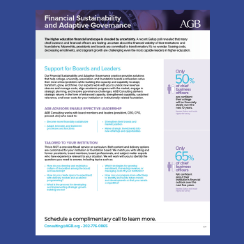 financial sustainability one-pager thumbnail