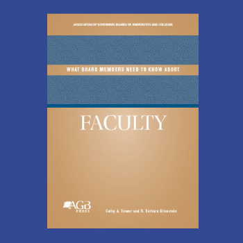 What Board Members Need to Know About Faculty Book Cover