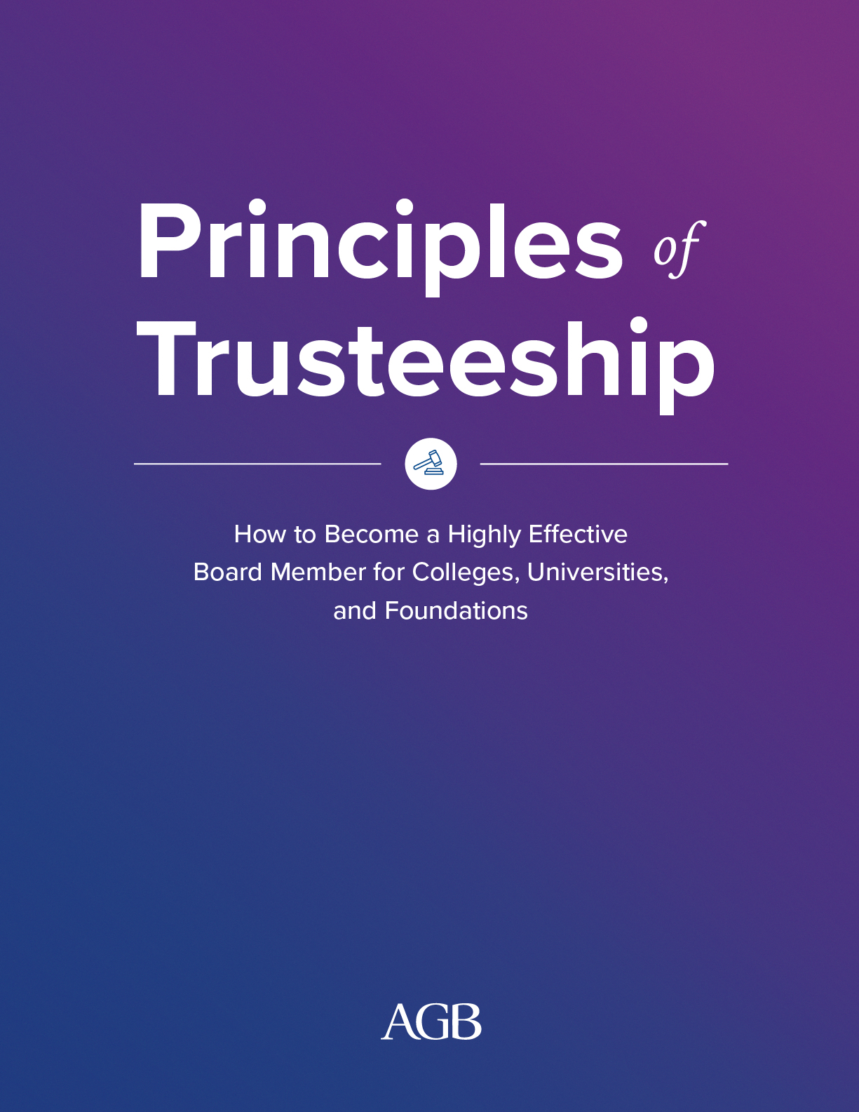 Principles of Trusteeship Guide Cover