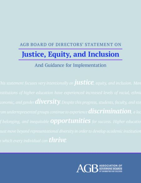 Statement on Justice, Equity, and Inclusion and Guidance for Implementation
