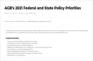 AGB Policy Priorities 2021