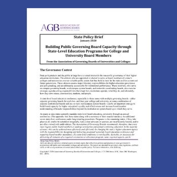 Building Public Governing Board Capacity