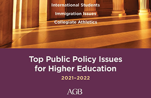 Top Public Policy Issues for Higher Education 2021-2022